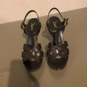 YSL Tribute Sandals 37.5. Gently used